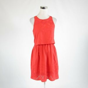 GAP orange cotton A-line dress 0